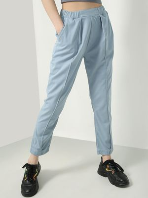 KOOVS Elasticated Waist Pleated Trousers
