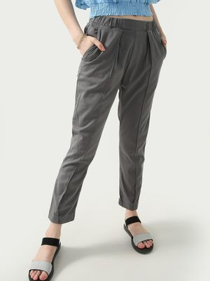 KOOVS Elasticated Pleated Trousers