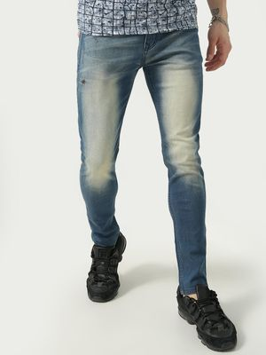 REALM Distressed Mid Rise Skinny Jeans