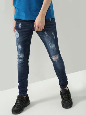 IMPACKT Mid Rise Distressed Skinny Fit Jeans