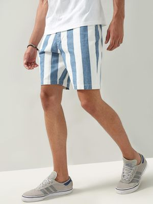 REALM Contrast Vertical Striped Shorts