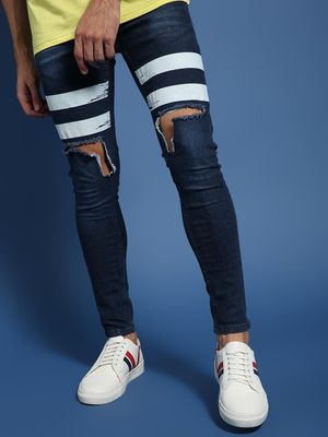 IMPACKT Contrast Tape Ripped Jeans