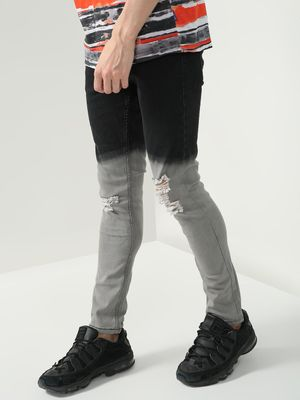IMPACKT Color Block Ripped Skinny Fit Jeans