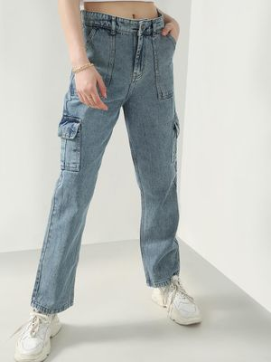 REALM Utility Pocket Regular Fit Straight Jeans