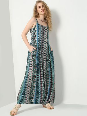 Vajor All Over Print Strappy Jumpsuit