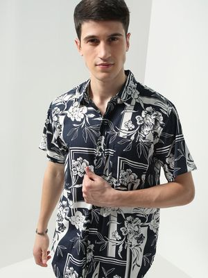 Oxolloxo All Over Floral Print Short Sleeves Shirt
