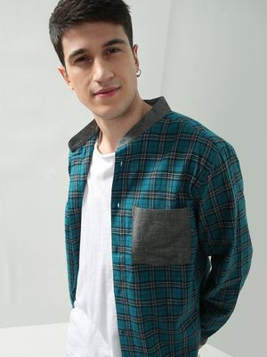Oxolloxo Checkered Patched Pocket Casual Shirt
