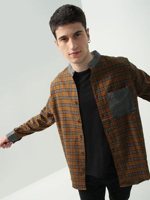 Oxolloxo Checkered Patch Pocket Casual Shirt