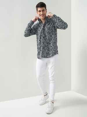 Oxolloxo Floral Print Casual Shirt