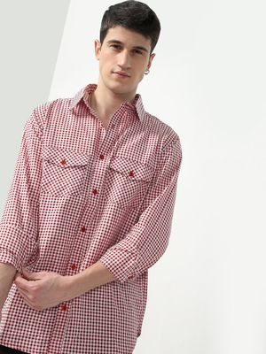 Oxolloxo Check Print Twin-Patch Pocket Shirt