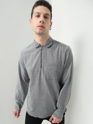 Oxolloxo Textured Front Patch Pocket Shirt