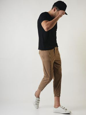 Sheltr Solid Elasticated Slim Fit Joggers