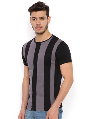 Sheltr Vertical Striped Round Neck T-Shirt