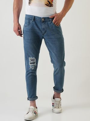 Sheltr Stone Wash Distressed Jeans