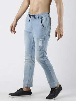 Blue Saint Distressed Patch Washed Slim Jeans