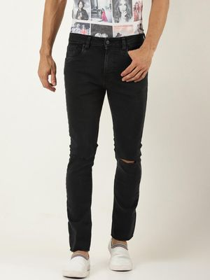 Blue Saint Knee Ripped Skinny Fit Jeans