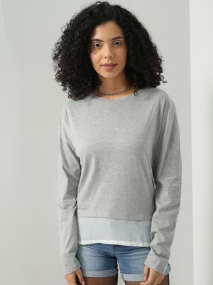 Blue Saint Long Sleeves Casual Top