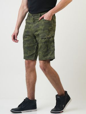 Blue Saint Camouflage Cargo Pocket Style Shorts