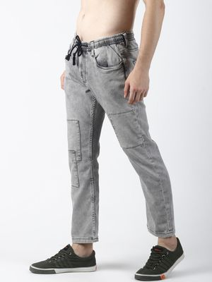 Sheltr Tie-Knot Casual Slim Fit Jeans