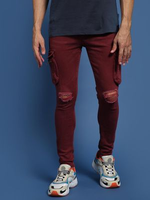 IMPACKT Cargo Pocket Ripped Jeans