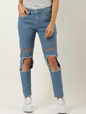 Blue Saint Ripped Knee Slim Fit Jeans