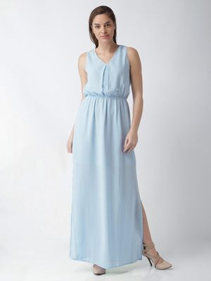 Blue Saint Side Slit Maxi Dress