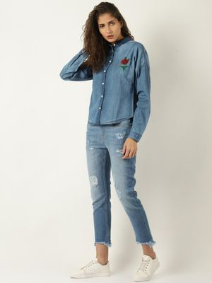 Blue Saint Denim Casual Shirt