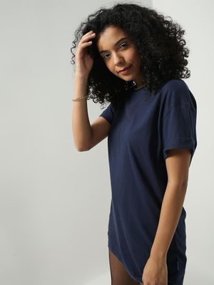 Blue Saint Crew Neck Oversized T-shirt