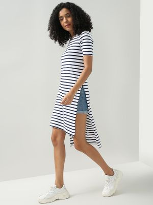 Blue Saint Horizontal Stripe Casual Top