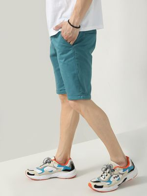 Blue Saint Folded Hem Skinny Fit Day Shorts