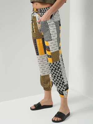 Oxolloxo Multi Abstract Print Trousers