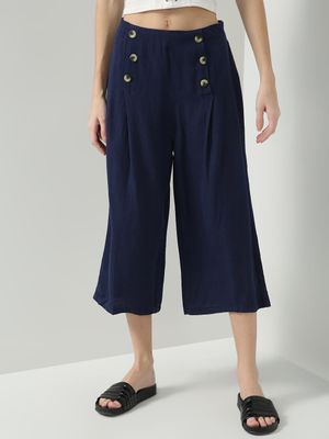 Oxolloxo High Rise Button Front Culottes