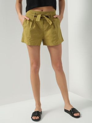 Oxolloxo High Waist Front Knot Shorts
