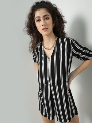 Oxolloxo Multi Vertical Stripe Playsuits