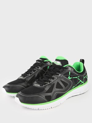361 Degree Contrast Detail Lace-Up Sneakers