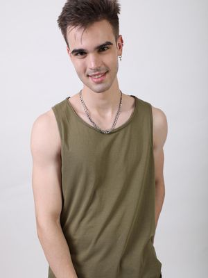 Bollywoo Sporty solid olive green Vest