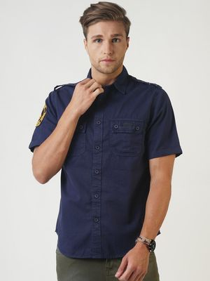 Blue Saint Twin-Patch Pocket Shirt