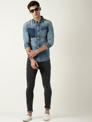 Blue Saint Flap Pocket Casual Shirt