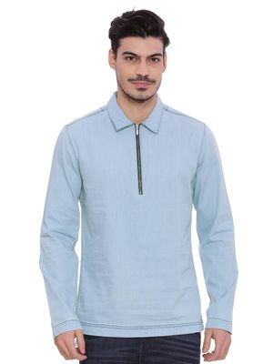 Blue Saint   Smart Zipper Polo Shirt