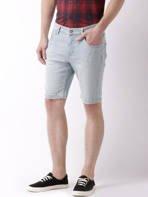 Blue Saint Mid-Rise Denim Shorts