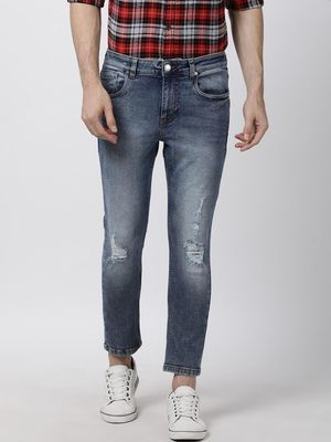 Blue Saint Mid-Rise Distressed Skinny Fit Jeans