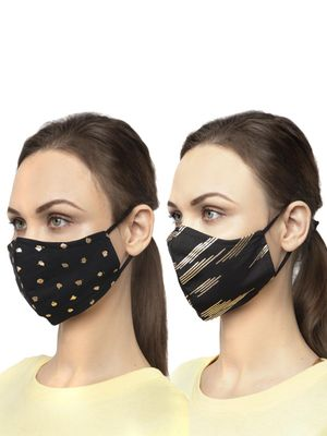 Oxolloxo Foil Print Safety Mask (Pack Of 2)