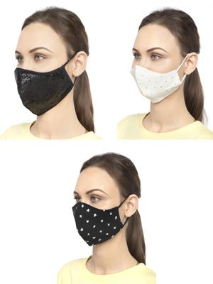 Oxolloxo Reusable Fabric Safety Mask (Pack Of 3)