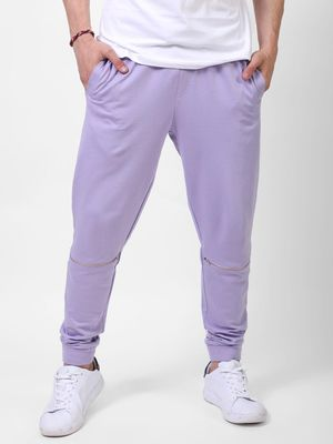 Blue Saint Solid Jogger With Zip Detail & Contrast Drawcord