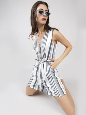 Oxolloxo Slay In Stripes Playsuit