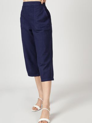 Oxolloxo Cotton Washed  Culottes in Navy