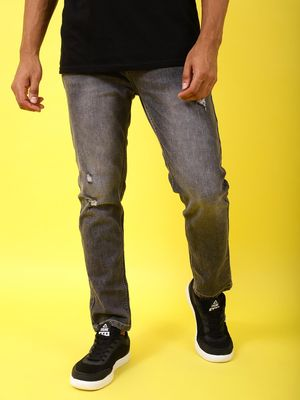 REALM Men's Lightly Washed Grey Jeans