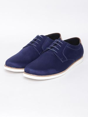 KOOVS Synthetic Suede Derby Shoes