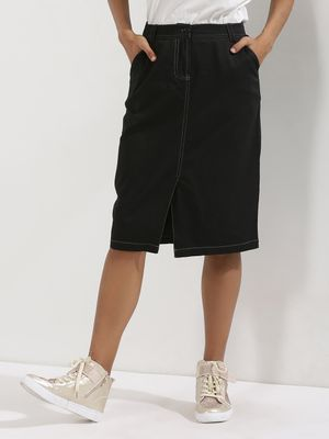 KOOVS Front Split Pencil Skirt