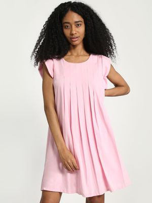 Vero Moda Pleated Mini Skater Dress